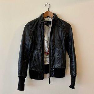 Mackage x Aritzia Elie leather biker jacket